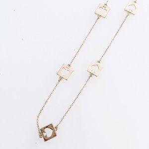 ♠️ Kate Spade Long Gold Spade Necklace